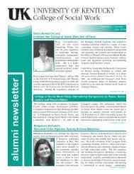 alumni newsletter - Managed Print Services - University of Kentucky