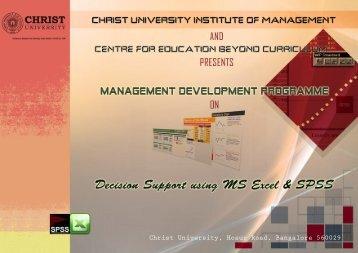Christ University, Hosur Road, Bangalore 560029