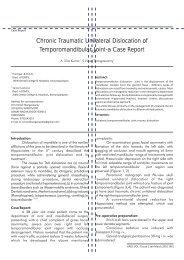 Chronic traumatic unilateral dislocation of temporomandibular joint