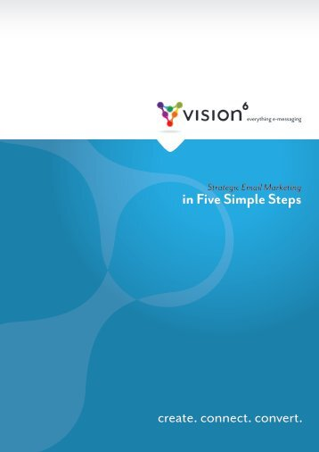 Strategic Email Marketing - In five simple steps - Vision 6