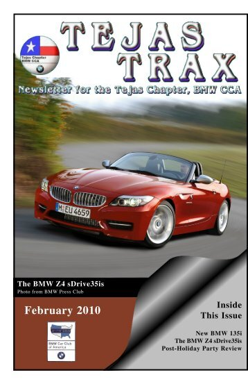 February 2010 - the Tejas Chapter, BMW CCA