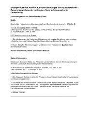 Biotopschutz von Höhlen, Karsterscheinungen und ... - VdHK