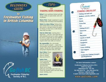 GofishBC - Freshwater Fisheries Society of BC