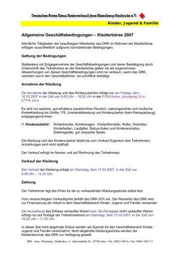 Kleiderbörse neu - DRK-Kreisverband Jena-Eisenberg-Stadtroda e.V.