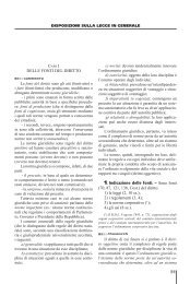 51 DELLE FONTI DEL DIRITTO 1. indicazione delle ... - La Tribuna