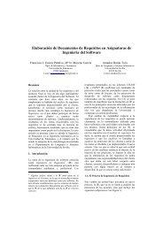 Elaboración de Documentos de Requisitos en Asignaturas de ...