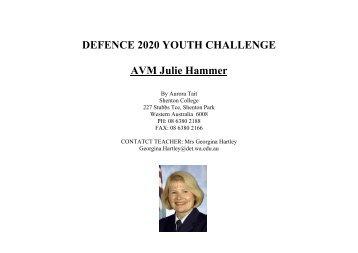 DEFENCE 2020 YOUTH CHALLENGE AVM Julie Hammer