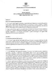 Regolamento FPC 02.02.2011 - Fondazione Forense Firenze