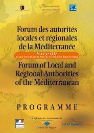 Programme Forum Marseille trilingue - Commission Méditerranée ...