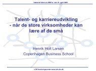 Talent- og karriereudvikling - LOK forskningscenter - CBS