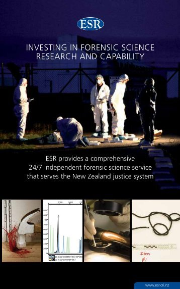 Investing in Forensic science research and capability