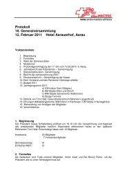 Protokoll GV 2011 - Swiss Masters Athletics