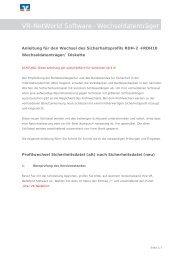 Anleitung VR-Networld Software (Wechseldatenträger)