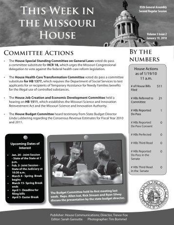 January 18, 2010 - Missouri House of Representatives