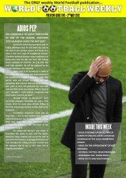2nd May 2012 - WORLD FOOTBALL WEEKLY