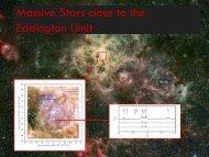 Massive stars close to the Eddington limit (25m)