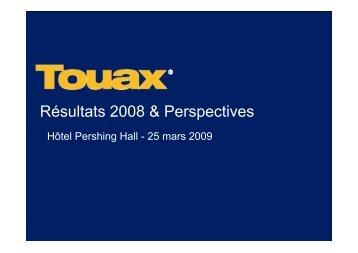 Réunion SFAF du 25 mars 2009 sur les comptes au ... - touax group