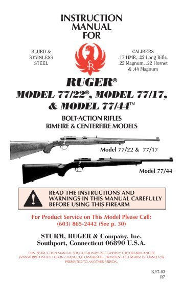 Model 8400 Bolt Action Sport Rifles Owners Manual Kimber