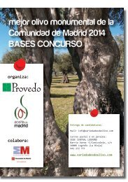 I Concurso olivos monumentales de la Comunidad de Madrid 2014