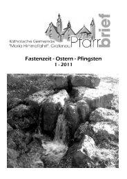 Fasten - Ostern - Pfingsten Pfingsten Pfingsten - Stadtpfarrei Grafenau