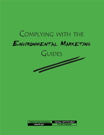 complying with the environmental marketing guides - Association for ...