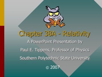 Chapter 38A -- Relativity