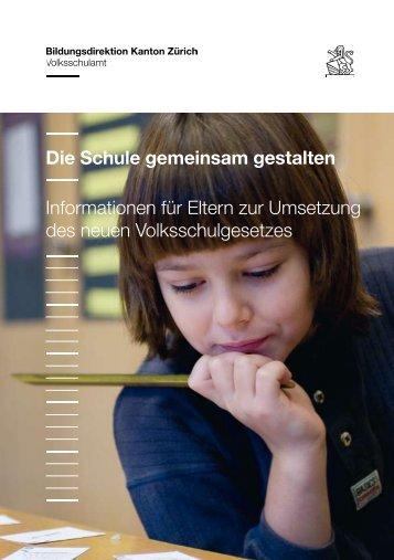 Die Schule gemeinsam gestalten Informationen für Eltern zur ...