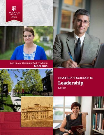 to download the brochure - Online Master of Science in Leadership ...
