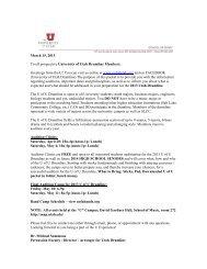 U Drumline 2013 Audition Info - University of Utah Bands