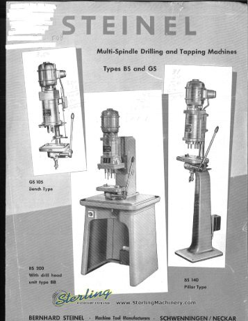 Steinel Multi Spindle and Tapping Machines Brochures - Sterling ...