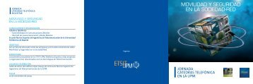 tríptico en pdf con el programa - Universidad Politécnica de Madrid