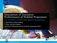Simulation of Transient Performance of Podded Propulsion