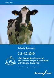 Leipzig, Germany 19th Annual Conference of the German Biogas ...