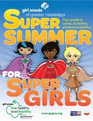 2013 Summer Program Guide - Girl Scouts of Greater Mississippi