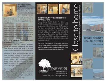Surgery Remodel Brochure.indd - Henry County Health Center