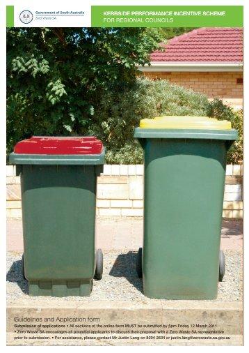 Kerbside Performance Incentive Scheme Regional ... - Zero Waste SA