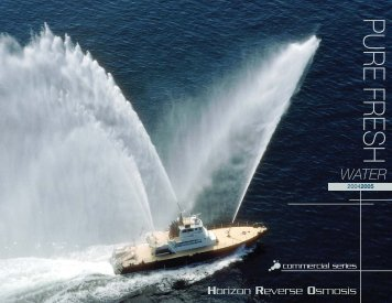 HRO Commercial Desalinators Catalogue - Marine Works