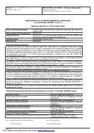 Allegato VAS REGIONE (DGR 1280/2012) - Urban Center - Comune ...