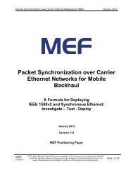 Packet Synchronization over Carrier Ethernet Networks for Mobile ...