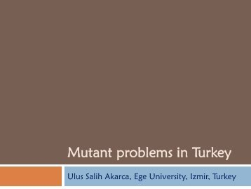 Mutants problems in Turkey - Viral Hepatitis Prevention Board