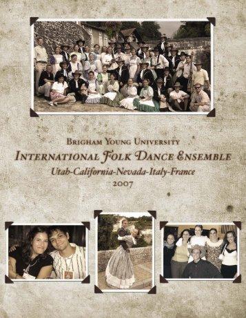 2007 - BYU International Folk Dance Alumni