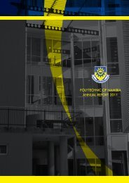 PolytechNic of NAmibiA ANNuAl RePoRt 2011