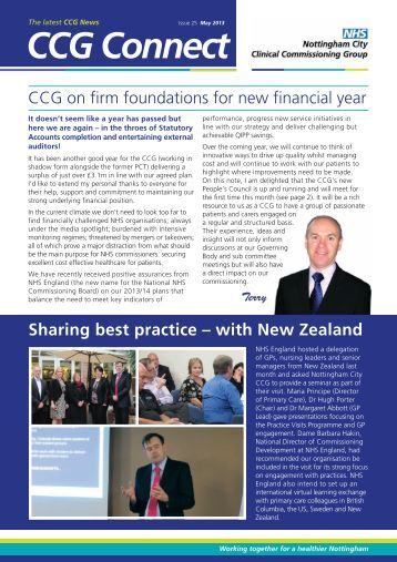 Here is the May issue of the Nottingham City CCG newsletter
