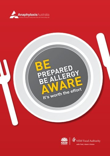 Be Prepared Be Allergy Aware | brochure - NSW Food Authority