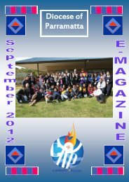 Youth E-Magazine September 2012 - Catholic Diocese of Parramatta