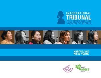 International Tribunal on Crimes Against Women of Burma