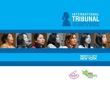 International Tribunal on Crimes Against Women of Burma