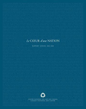 Rapport annuel 2002-2003 du CNA - National Arts Centre