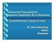 Universal Vaccination against Hepatitis B in Germany