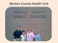 Benton County Health Unit - Benton County, Sex Offender Tracking ...
